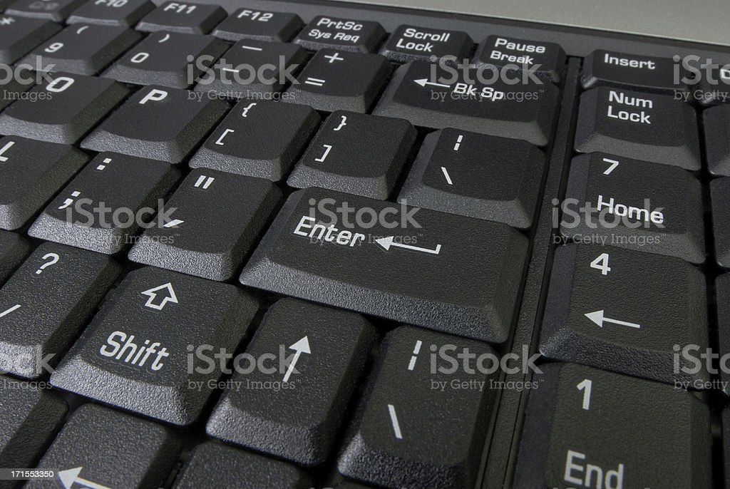 Black laptop keyboard royalty-free stock photo