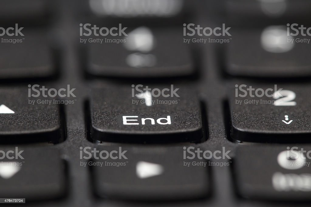Black Laptop Keyboard stock photo