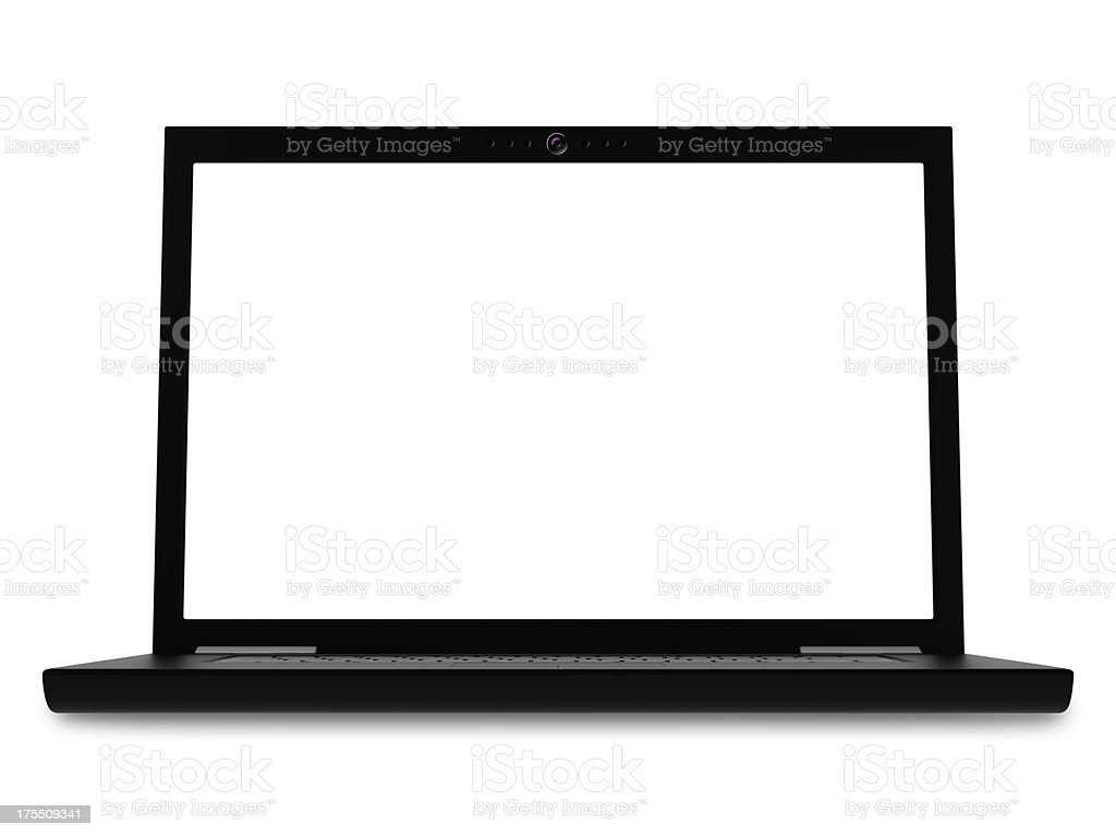 black laptop royalty-free stock photo