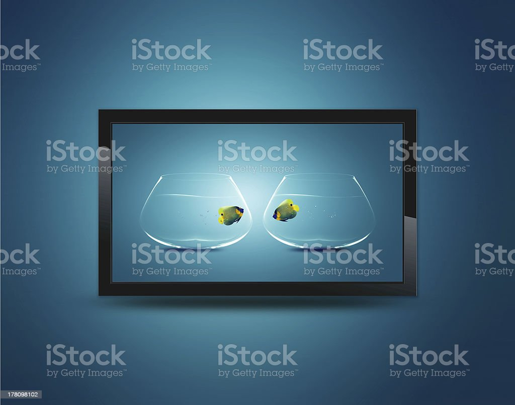 Black LCD tv royalty-free stock photo