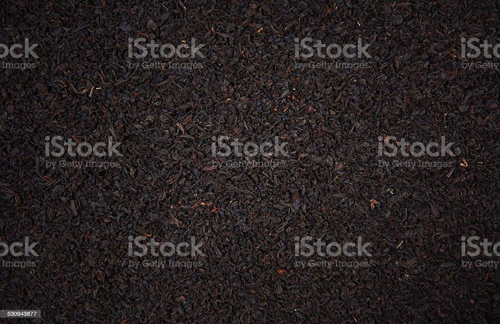 Black leaf tea stock photo