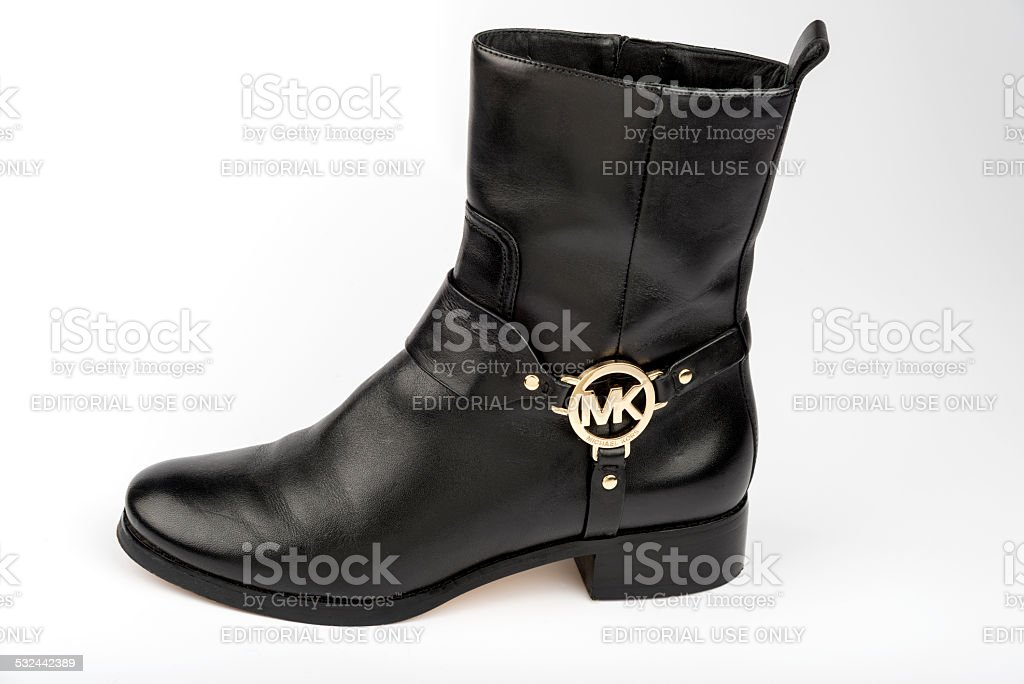 Black Leather Boot stock photo