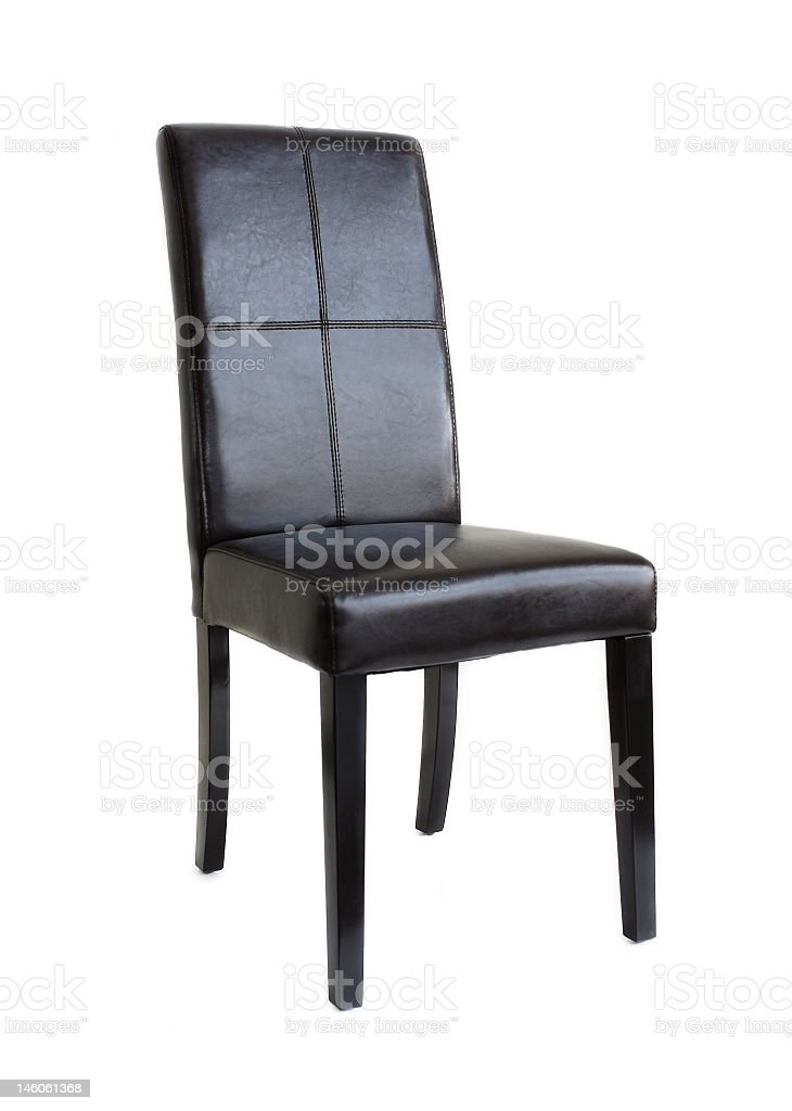 black leather chair royalty-free stock photo
