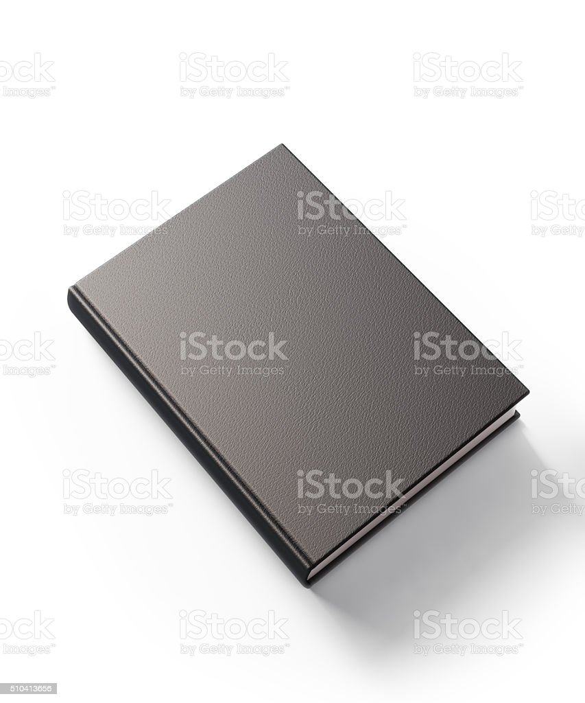 Black Leather Covered Book stock photo