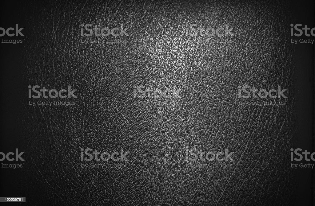 Black leather for texture stock photo
