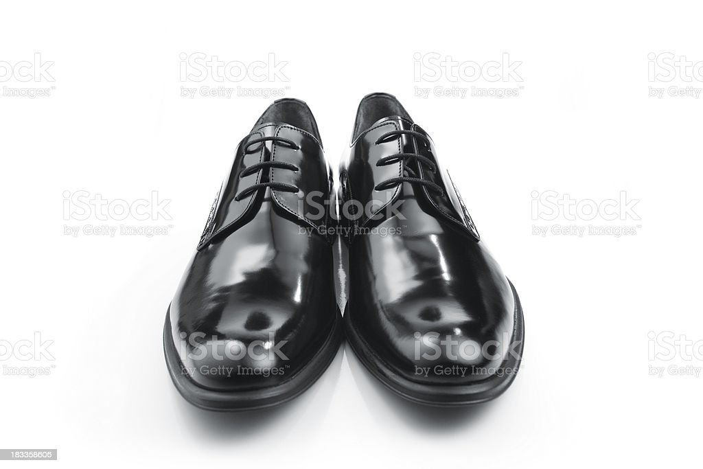 Black Leather Men Shoes stock photo