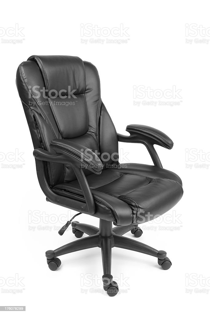 Black Leather Office Chair royalty-free stock photo