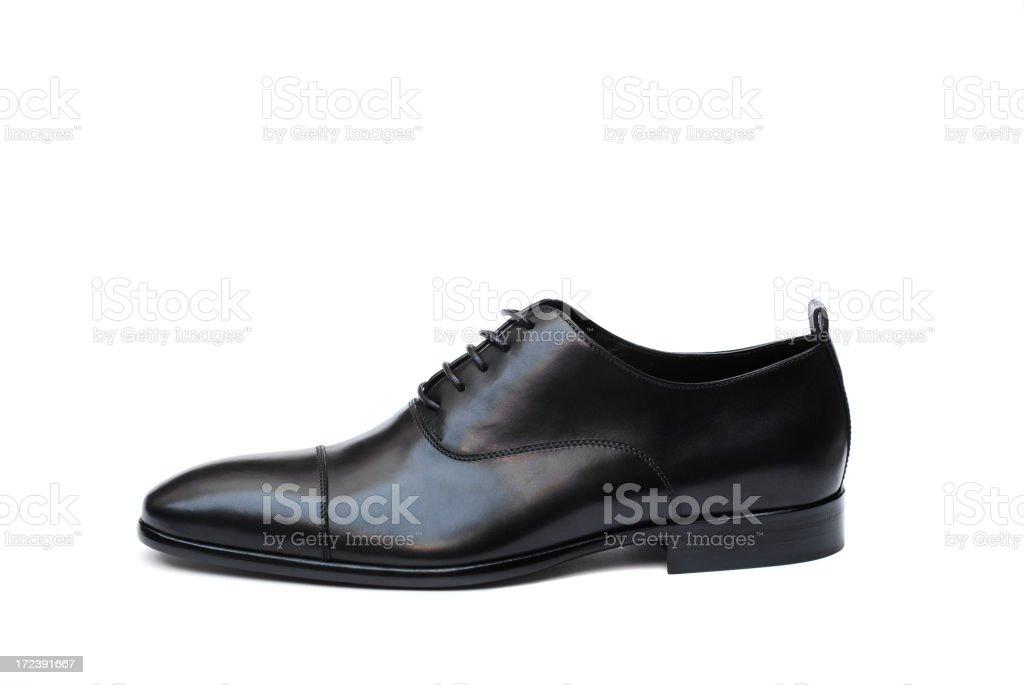 Black Leather Shoe stock photo