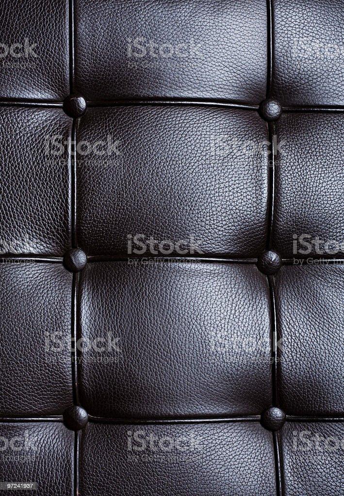 Black Leather Sofa Detail royalty-free stock photo