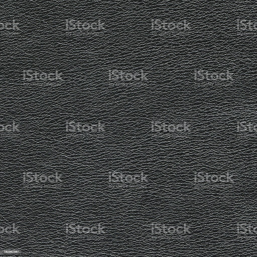 Black Leather swatch stock photo