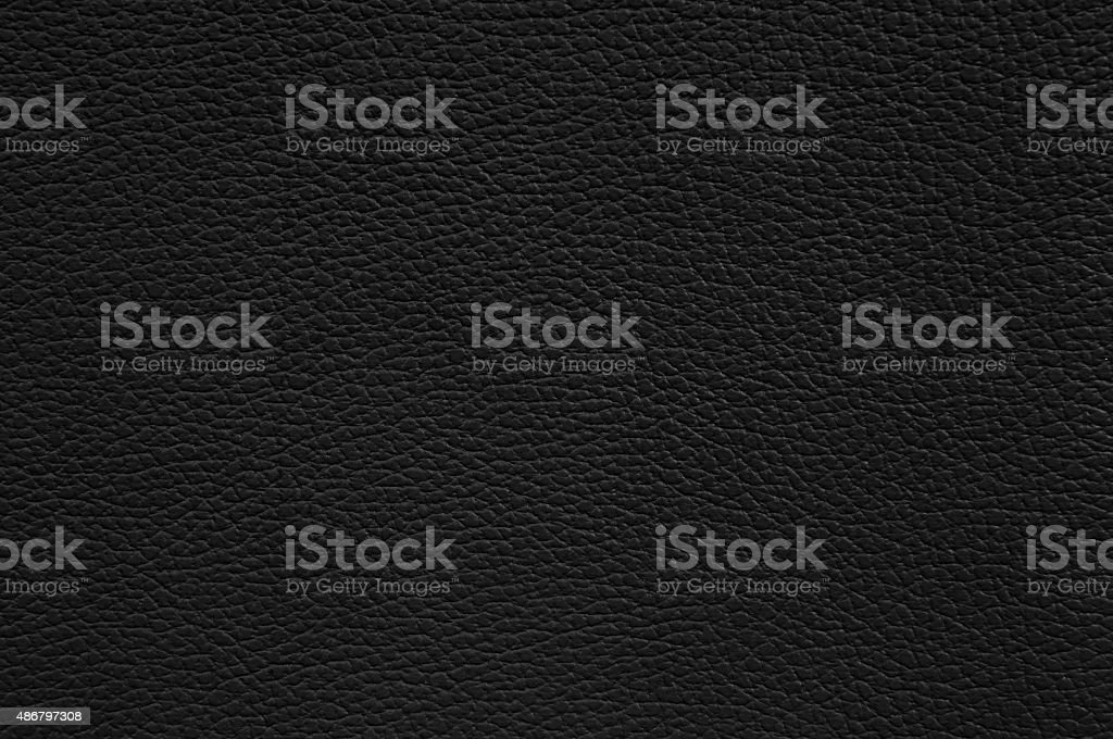 Black leather texture as background stock photo