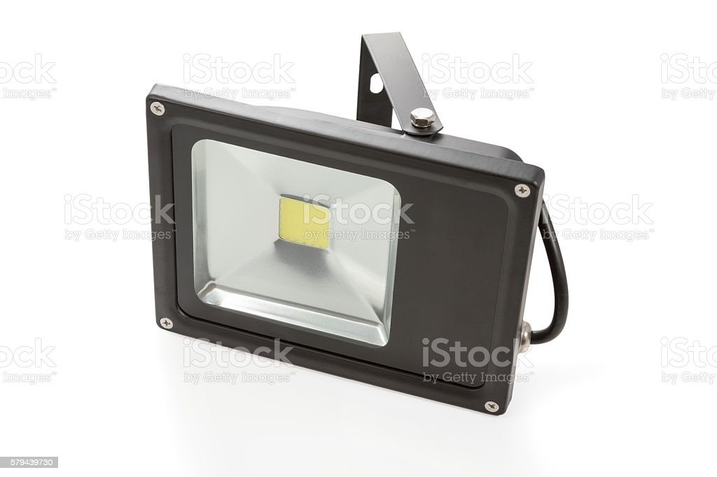 Black LED spotlight stock photo
