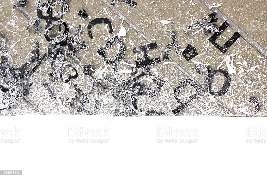 Black Letter Stickers stock photo