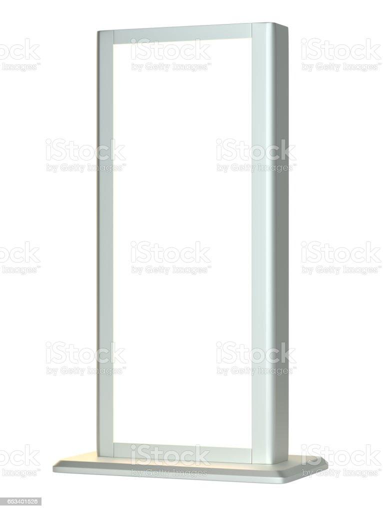 Black lightbox in white background stock photo