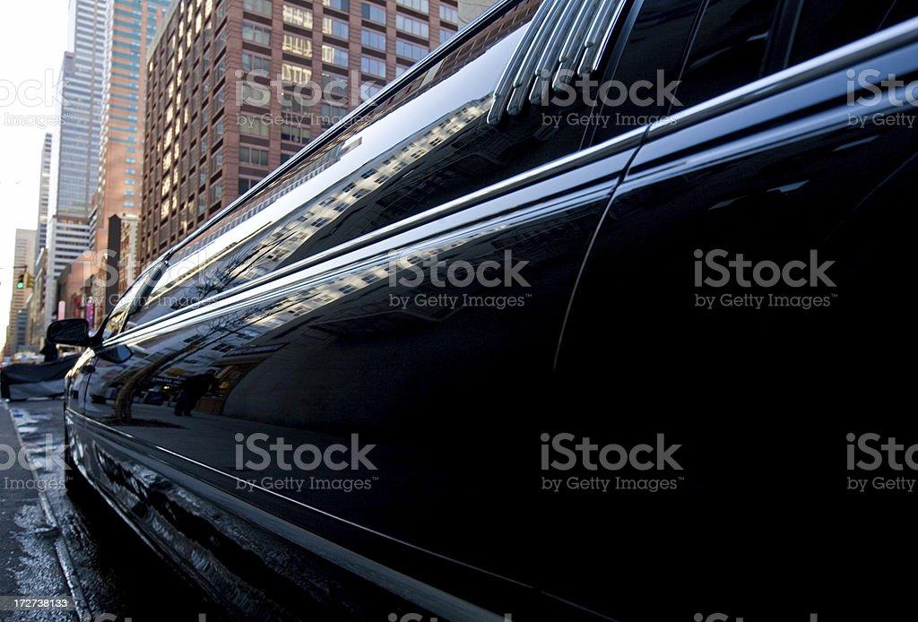 Black Limousine royalty-free stock photo