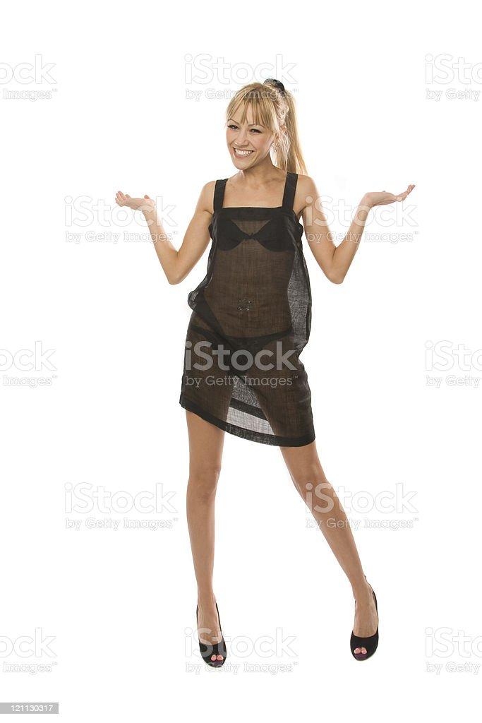 Black lingerie stock photo