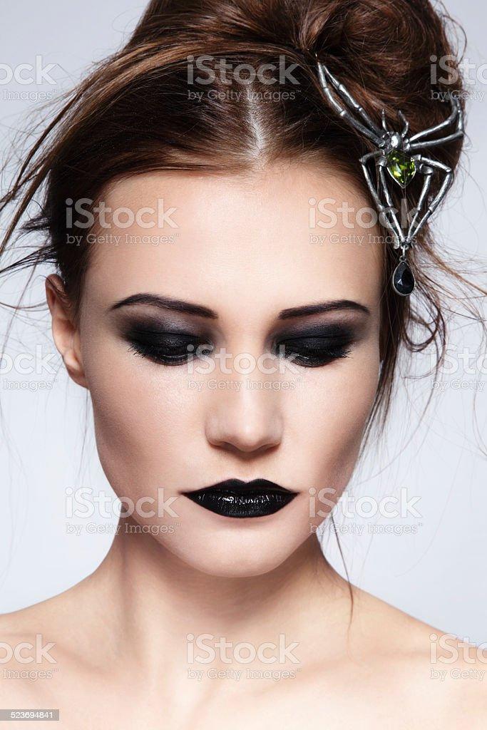 Black lipstick stock photo