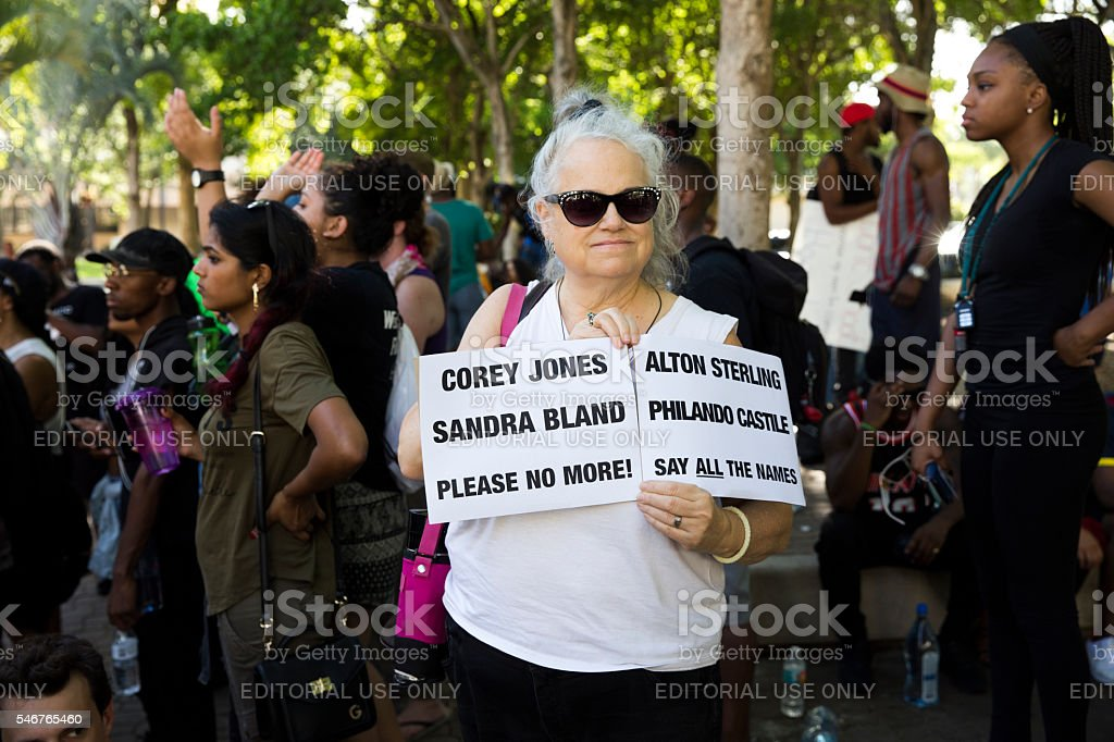Black Lives Matter in Fort Lauderdale stock photo