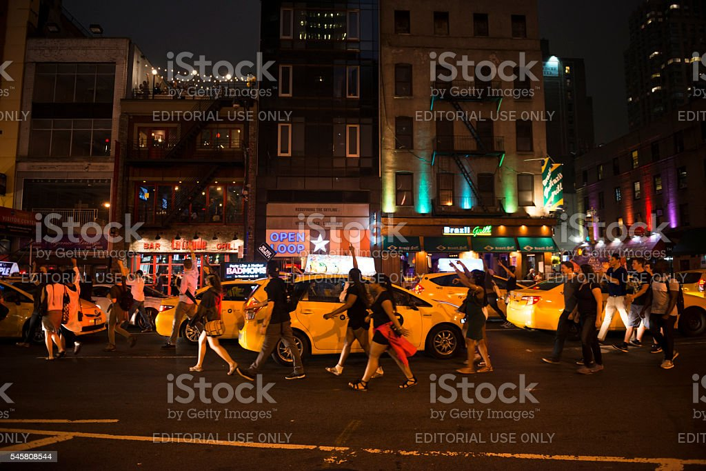 Black Lives Matter protest in New York City stock photo
