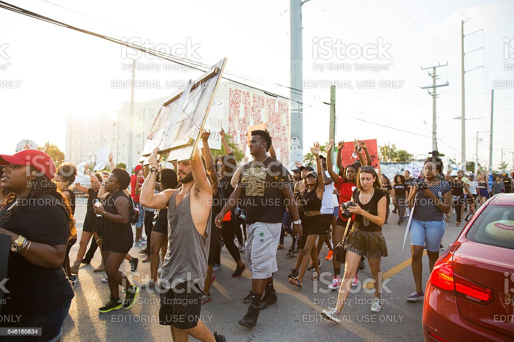 Black Lives Matter protest Miami stock photo