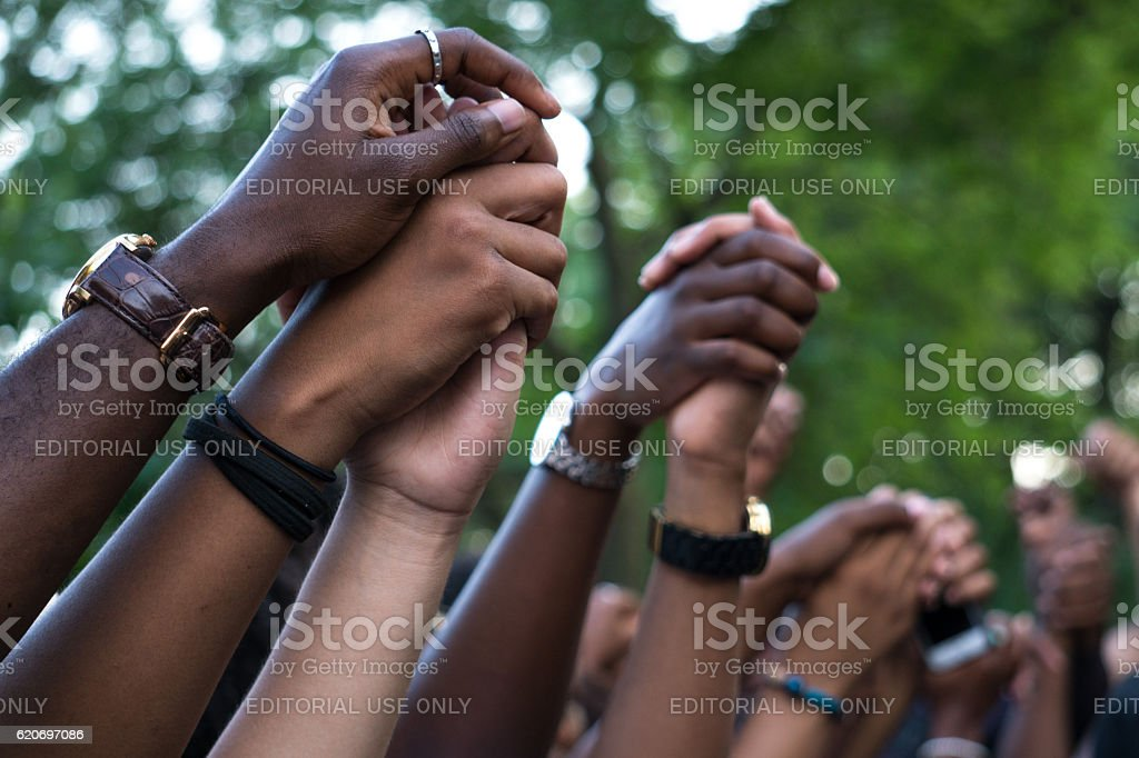 Black Lives Matter Protest, Montreal stock photo