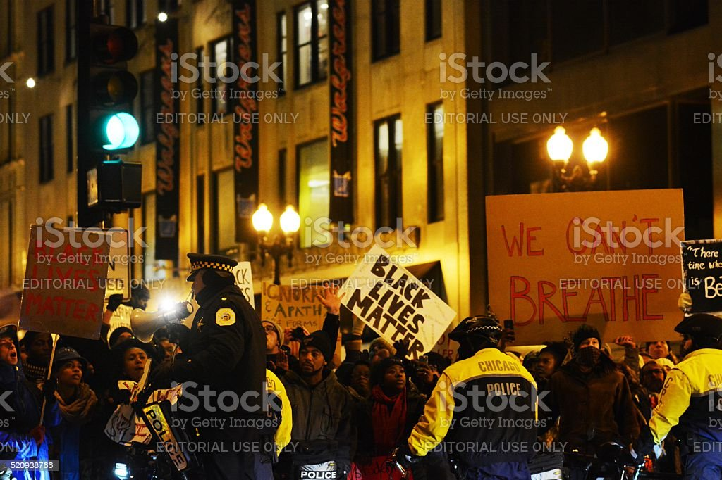 Black Lives Matter Protest stock photo