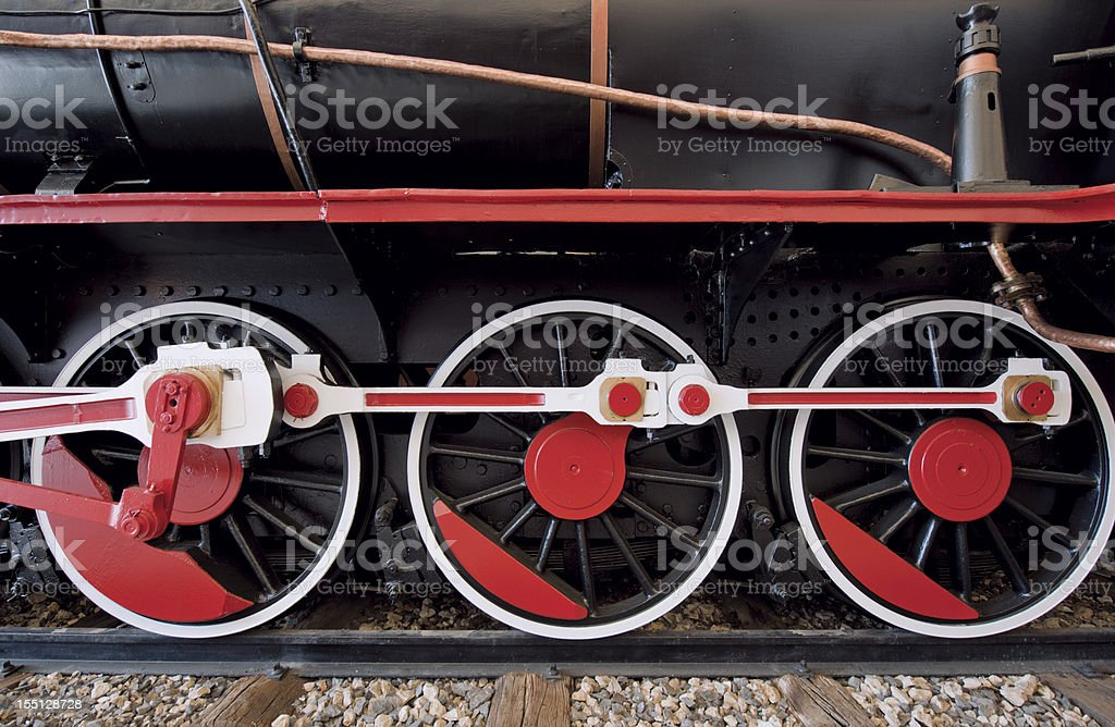 Black Locomotive stock photo