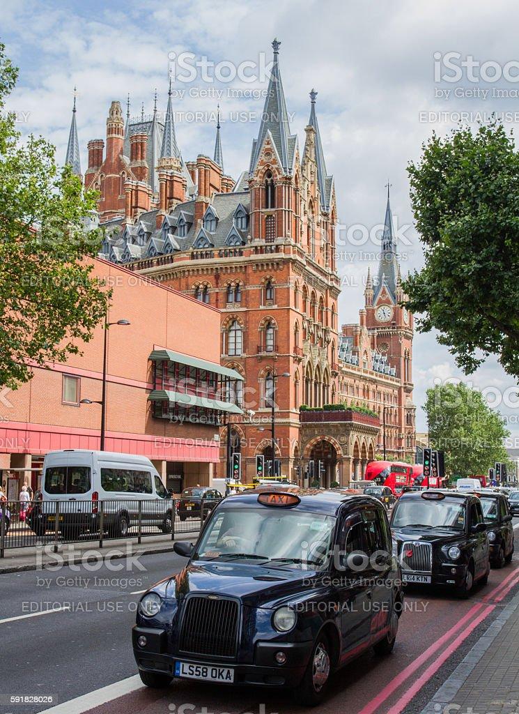 Black London Cabs stock photo