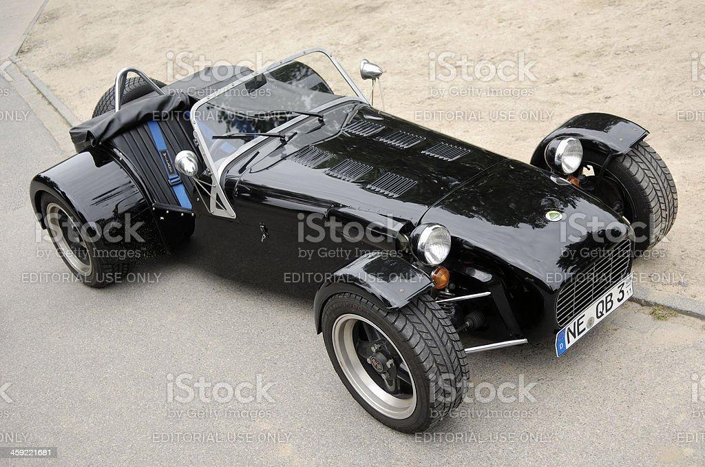 Black Lotus Super Seven sports car. The original Lotus Seven is a...