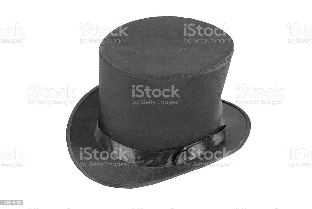 Black magic hat royalty-free stock photo
