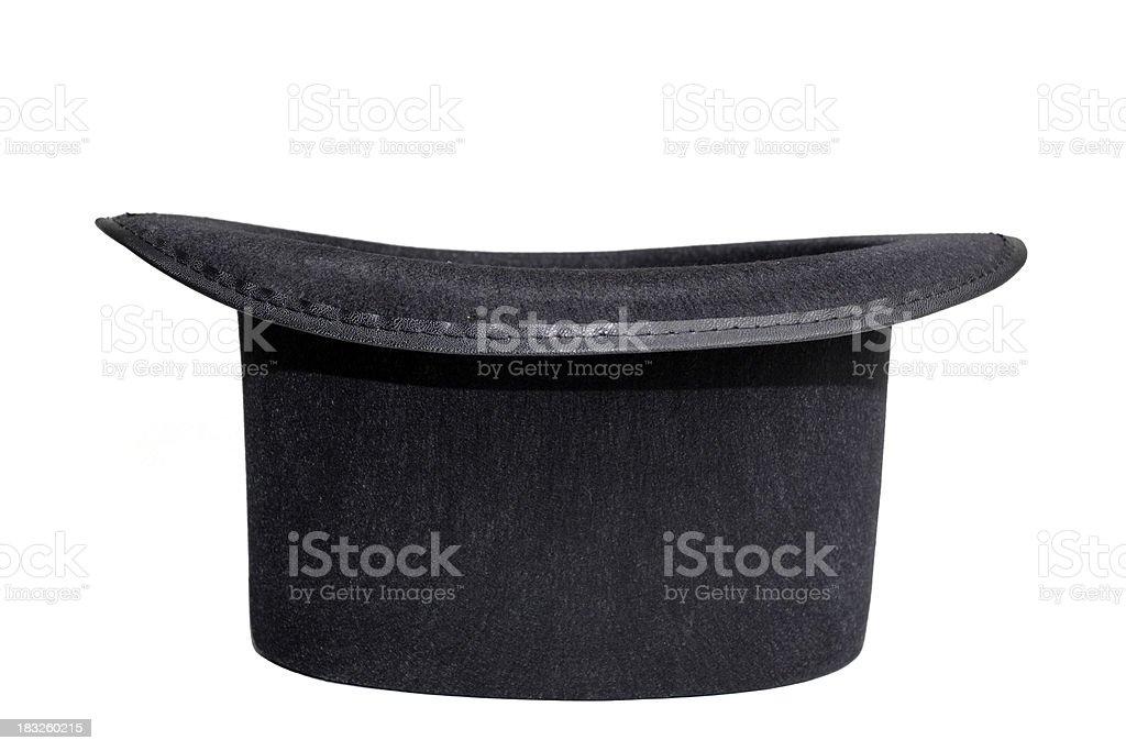Black Magic Top Hat on White royalty-free stock photo