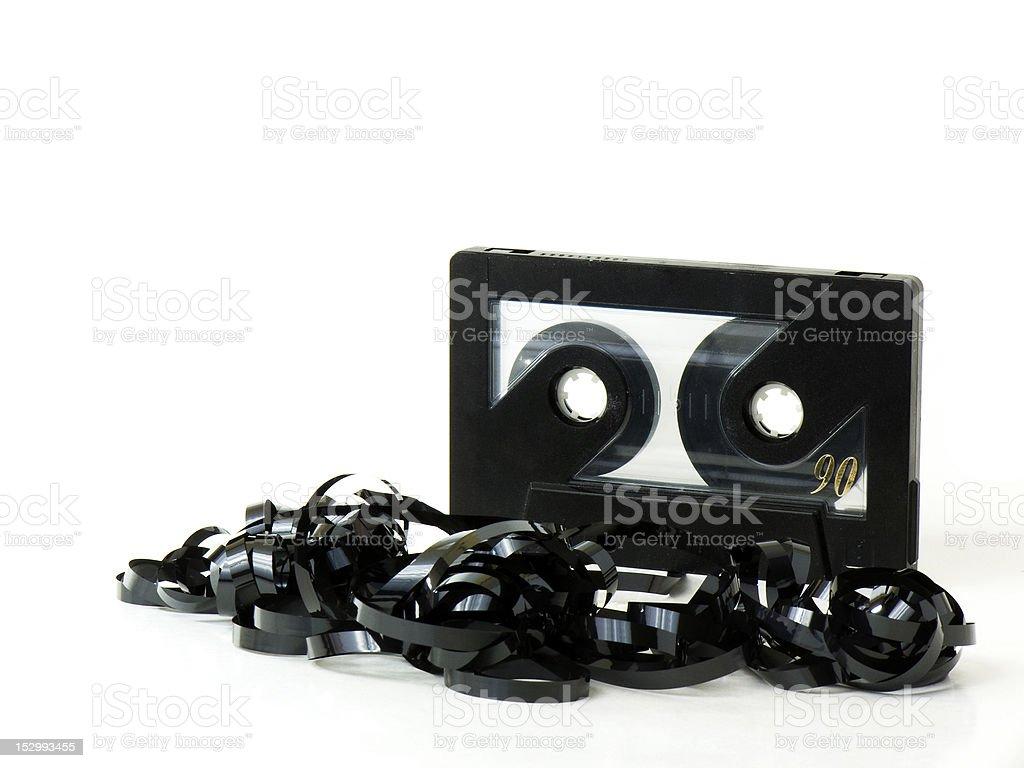 Black magnetic audio cassette royalty-free stock photo