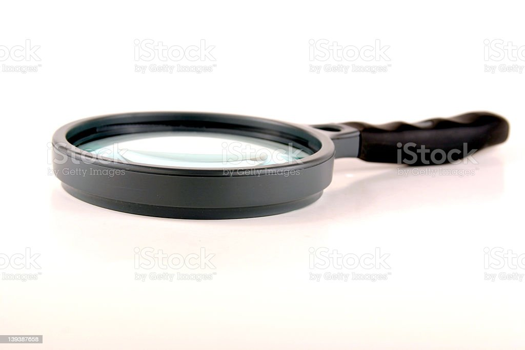 Black Magnifying Glass stock photo