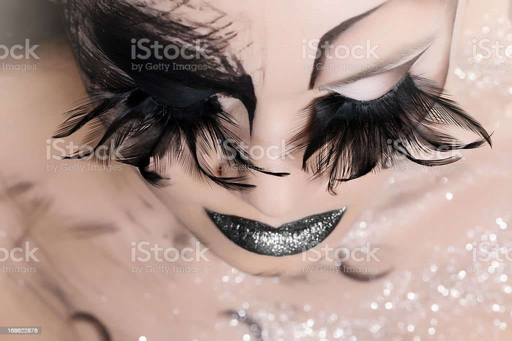 black makeup stock photo