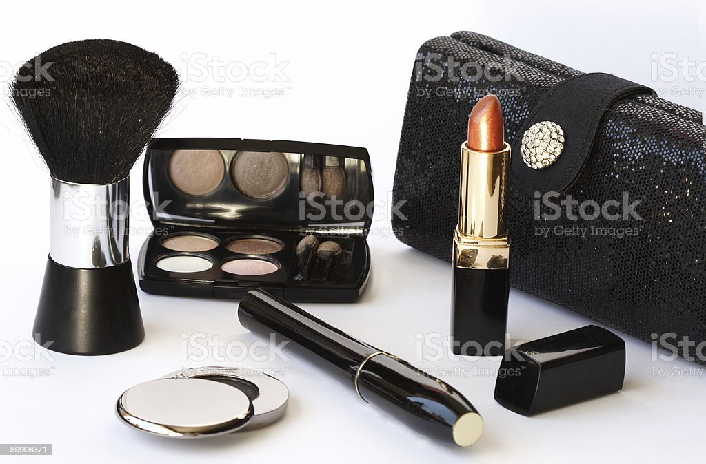 Black Make-up set royalty-free stock photo