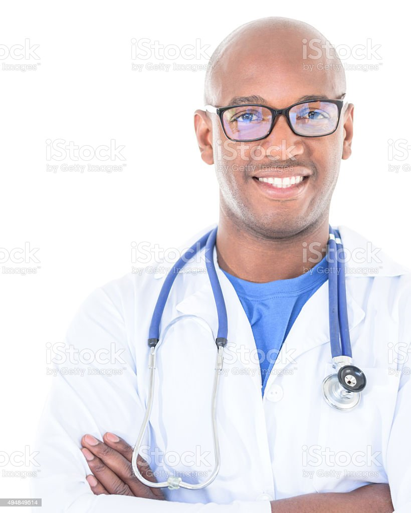 Black male doctor stock photo