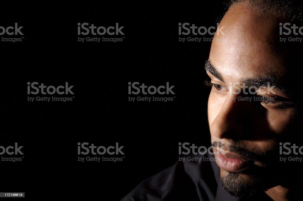 black man thinking royalty-free stock photo