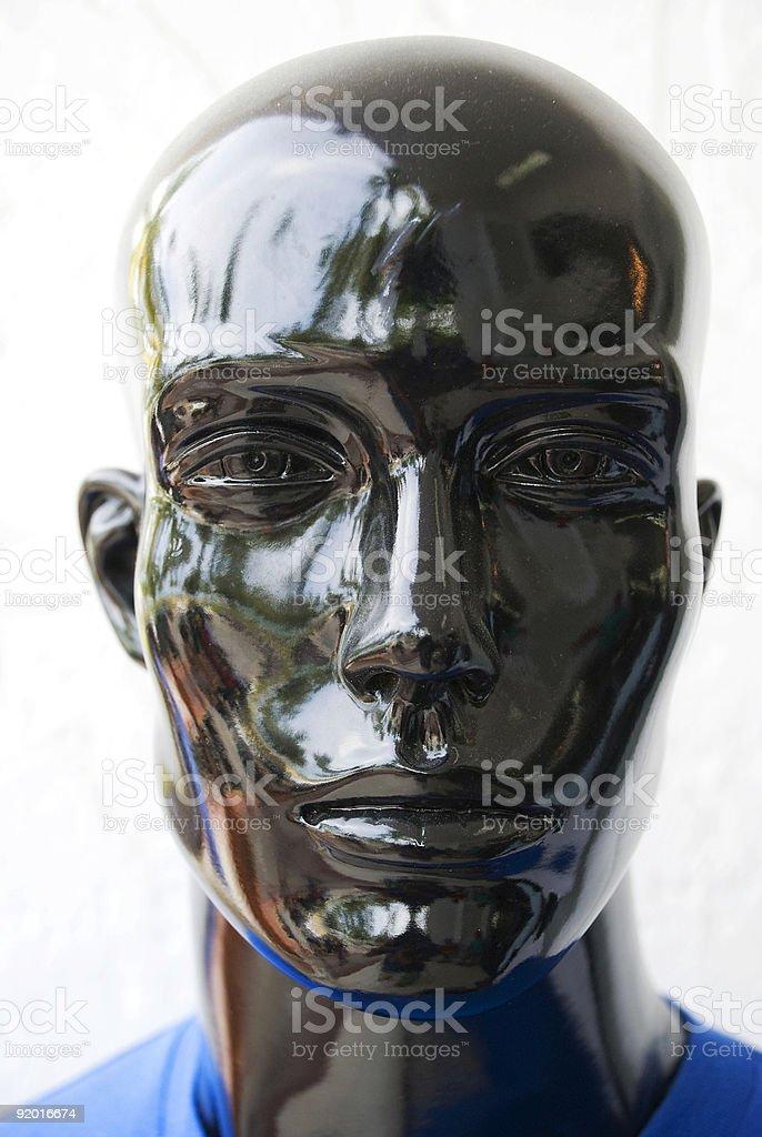 Black Manaquin Head royalty-free stock photo