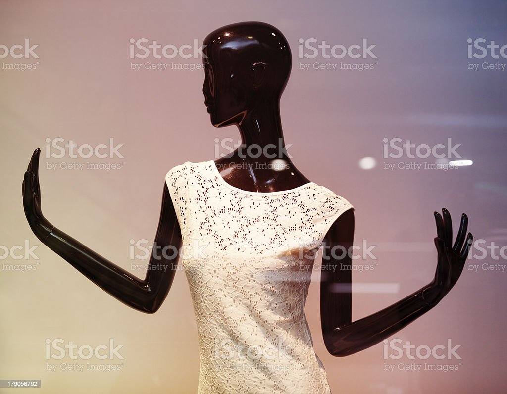 Black mannequin royalty-free stock photo