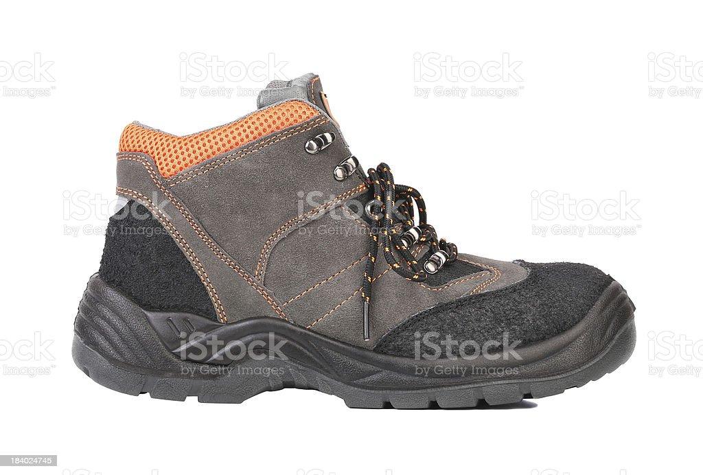 Black man's boot. royalty-free stock photo
