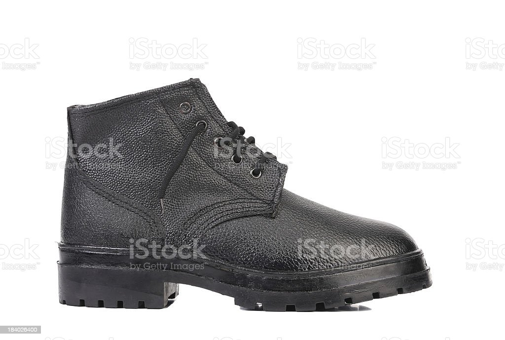 Black man's boot. royalty-free stock photo