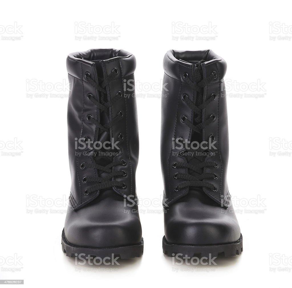 Black man's boots royalty-free stock photo