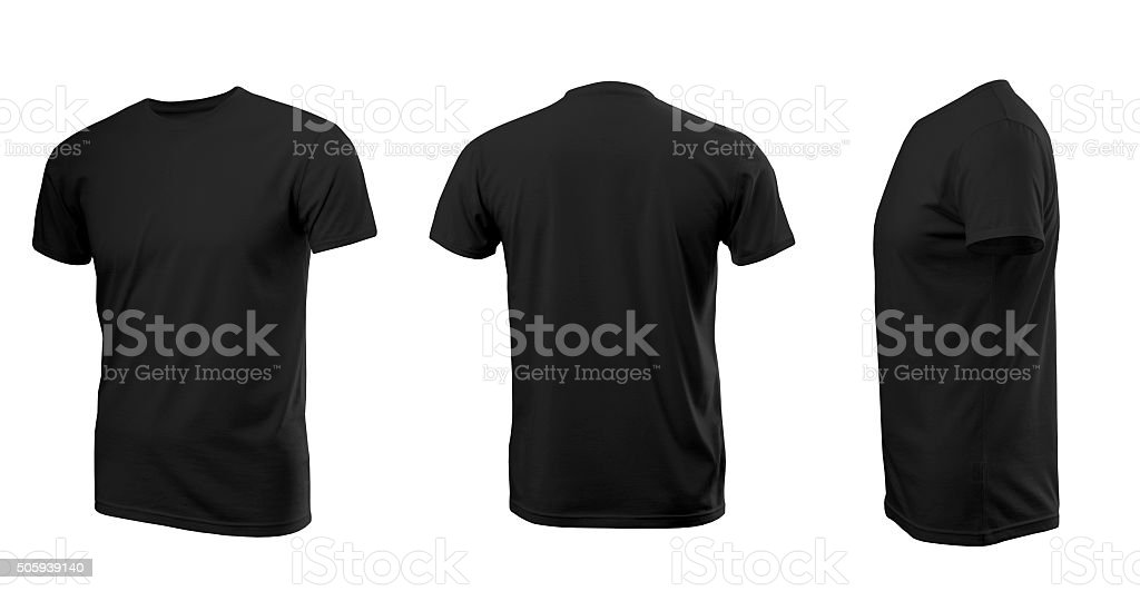Black man's T-shirt with short sleeves stock photo