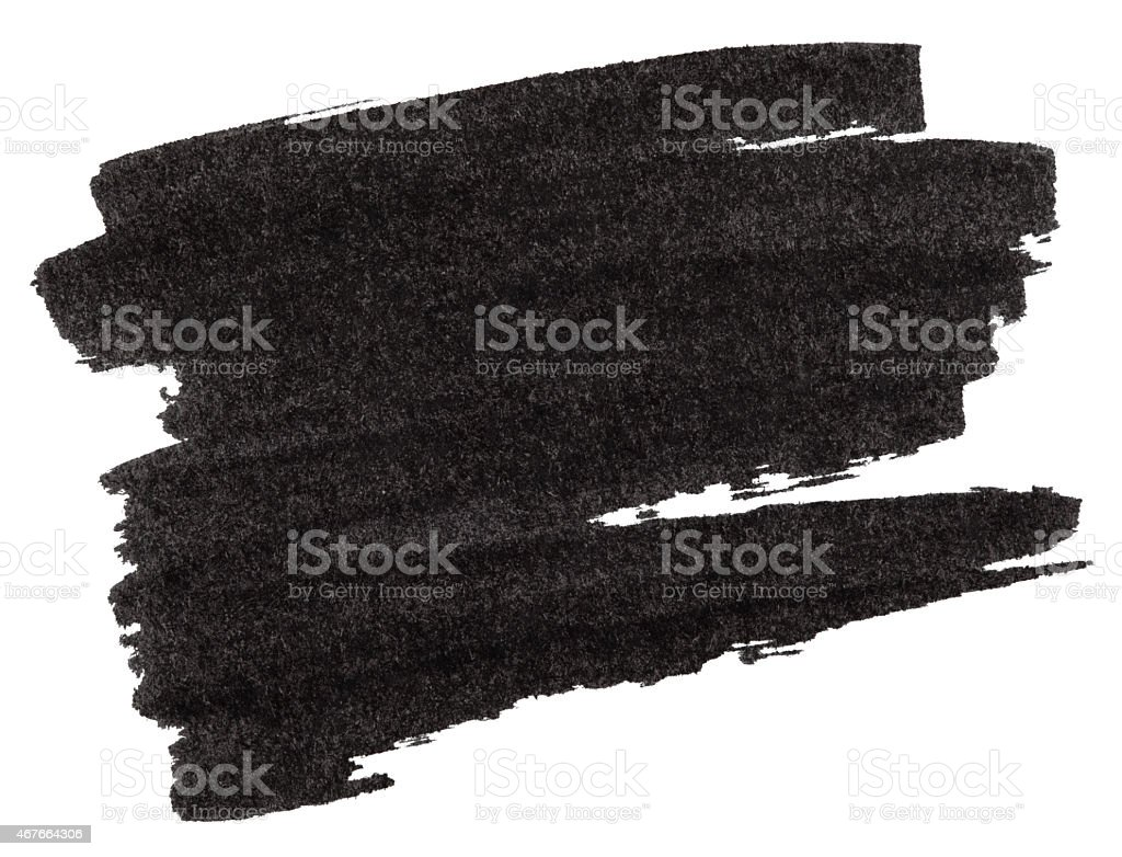 Black marker paint texture stock photo