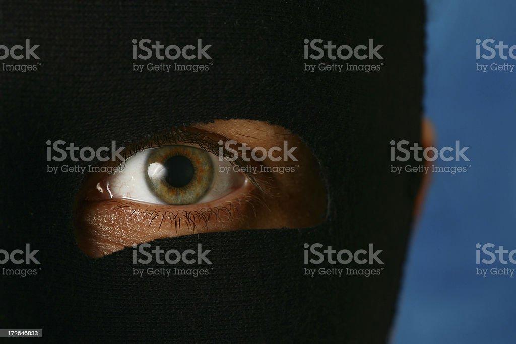 black mask & eye stock photo