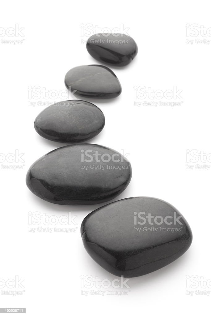 Black massage stones stock photo