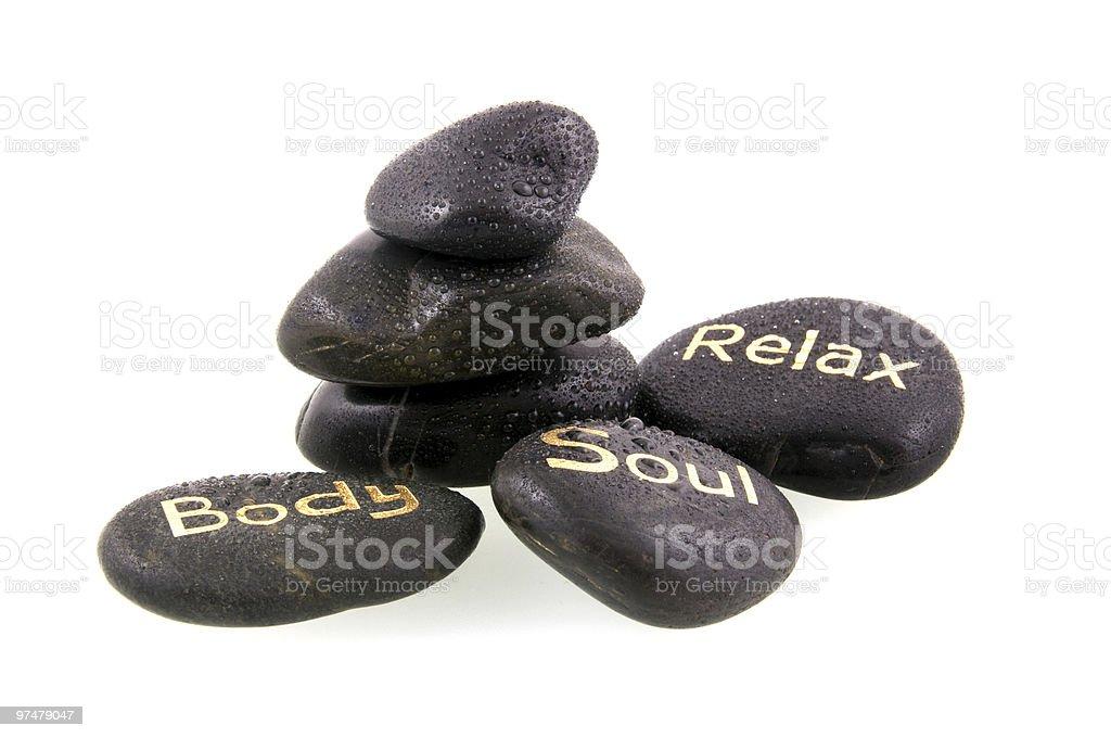 massage de pierres noir photo libre de droits