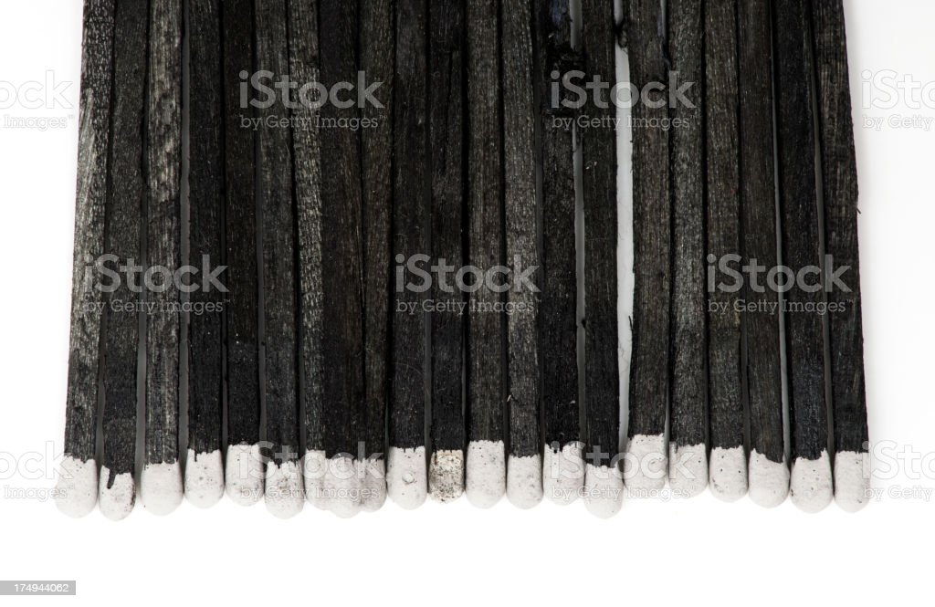 Black Matches royalty-free stock photo