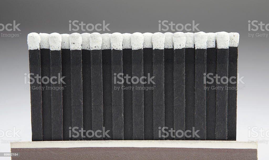 black matches vintage stock photo