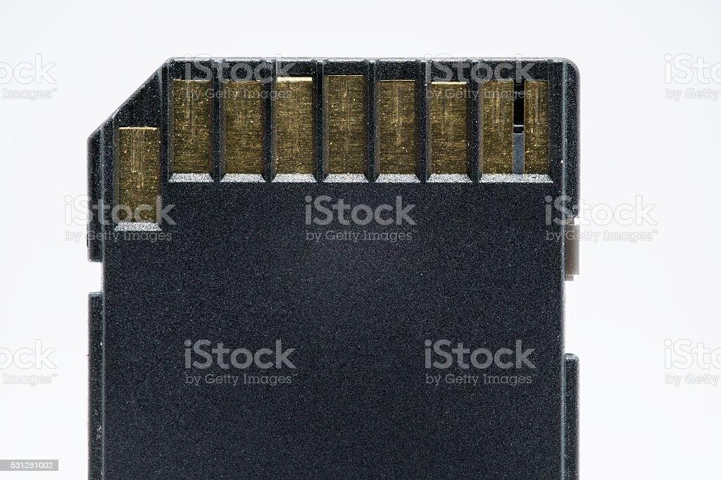 Negro, tarjeta de memoria SD-aislado sobre blanco foto de stock libre de derechos